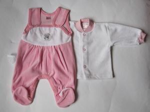 Велюровий костюм Татошка для новонародженого рожевий af5ec15d24e63