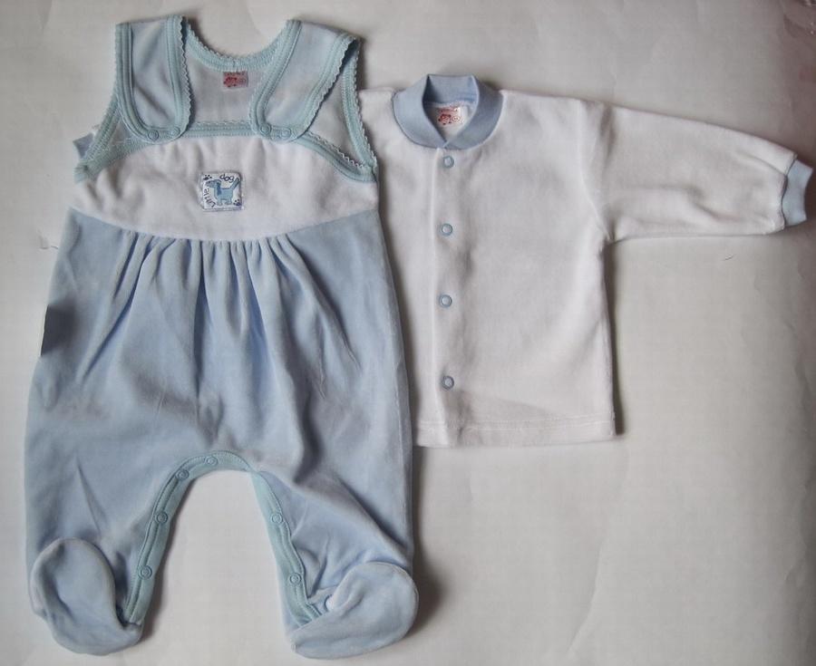 Велюровий костюм Татошка для новонародженого блакитний 046b8624e9a08